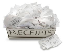 box of receipts
